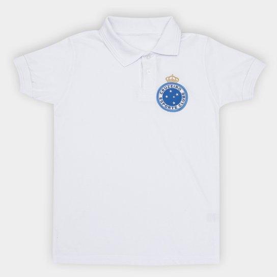 Camisa Polo Cruzeiro Hat Trick Juvenil - Branco