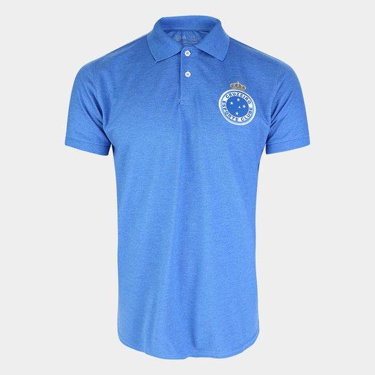 Camisa Polo Cruzeiro Hat Trick Masculina - Azul