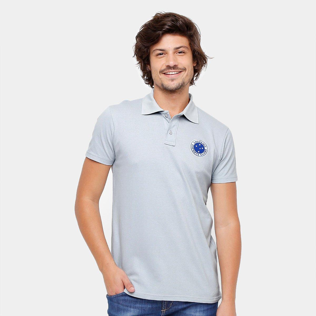Camisa Polo Cruzeiro Piquet Masculina - Compre Agora  5adee52ed59f3