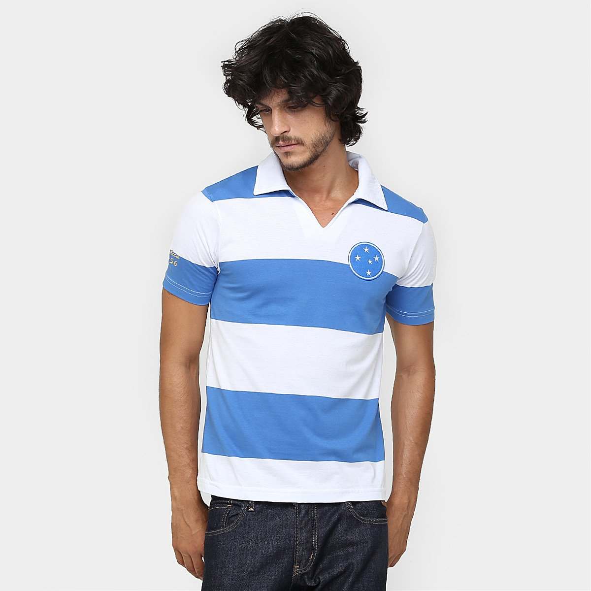 6c70e0d1d2 Camisa Polo Cruzeiro Réplica 1956 Masculina | Netshoes