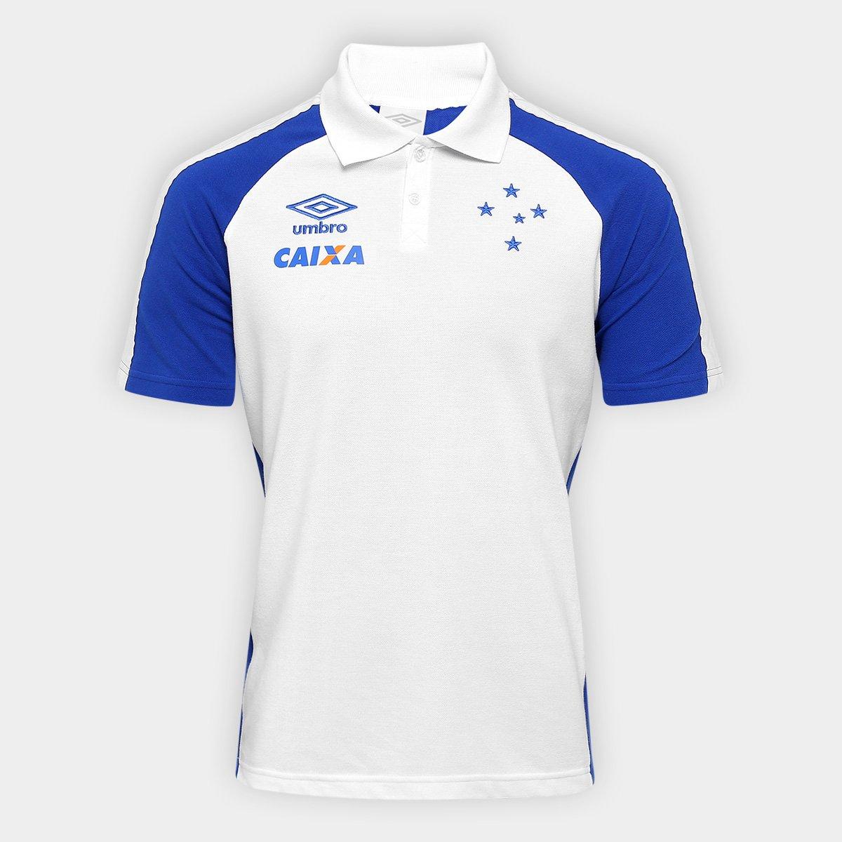 Camisa Polo Cruzeiro Viagem 17 18 Umbro Masculina - Compre Agora ... 0f1d695b82a38
