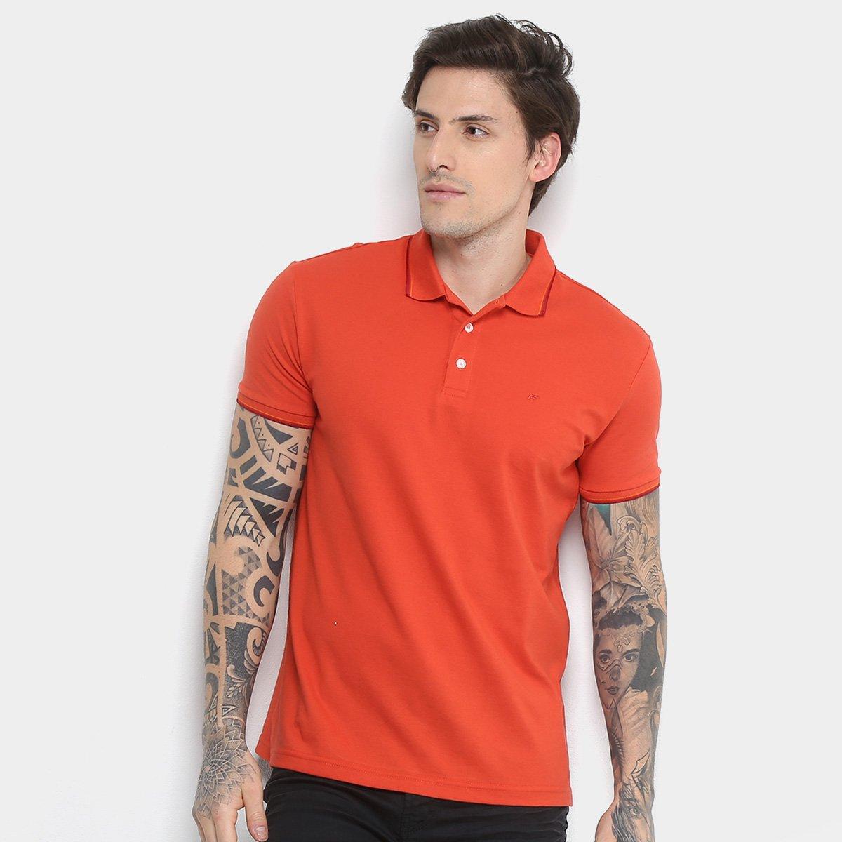 01a8da9fa2860 Camisa Polo Ellus Asa Frisos Classic Masculina - Laranja Claro - Compre  Agora