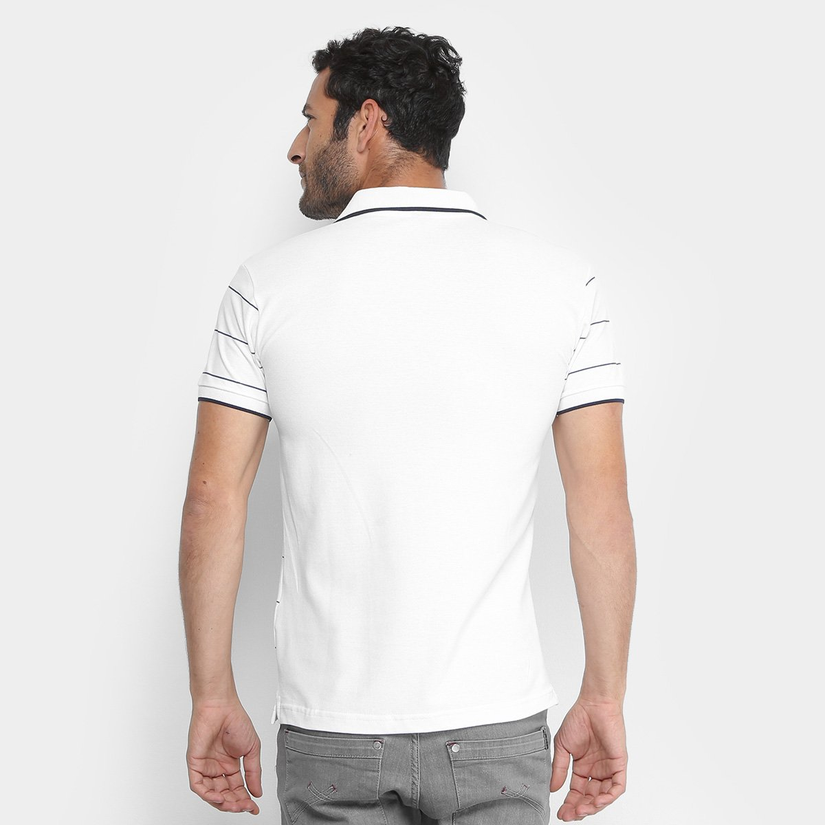 d1dac88a39 ... Camisa Polo em Piquet Estampada Polo RG 518 Manga Curta Masculina ...