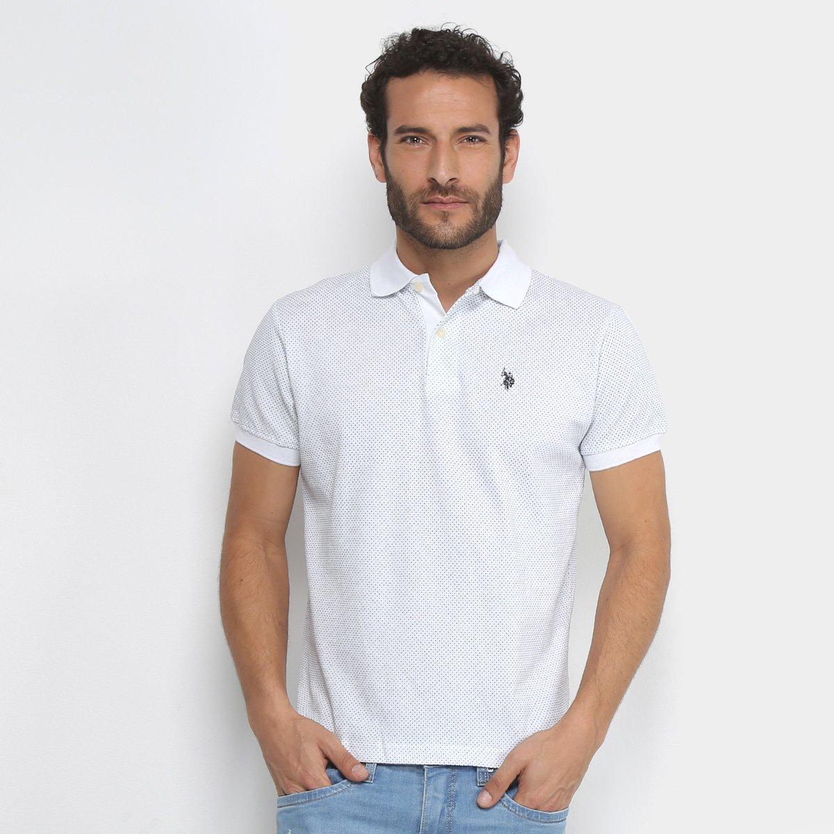 Camisa Polo Estampada Mini Print U.S.Polo Assn Manga Curta Masculino ... 2bbf2b348f9