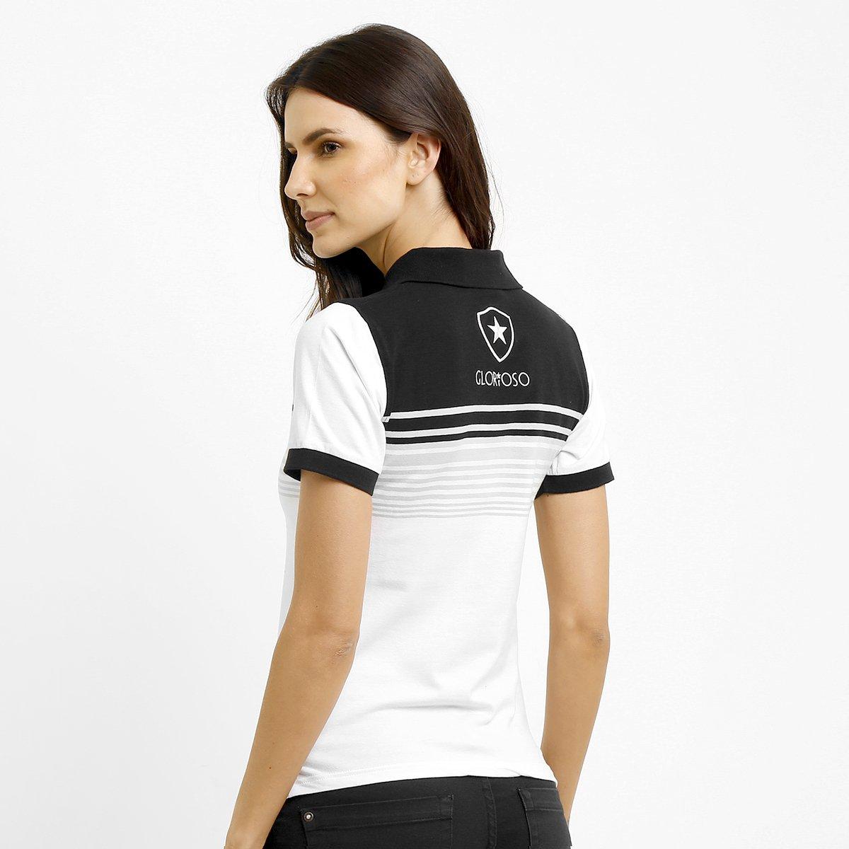 af56b270f1 Camisa Polo Feminina Botafogo Fio Tinto - Compre Agora