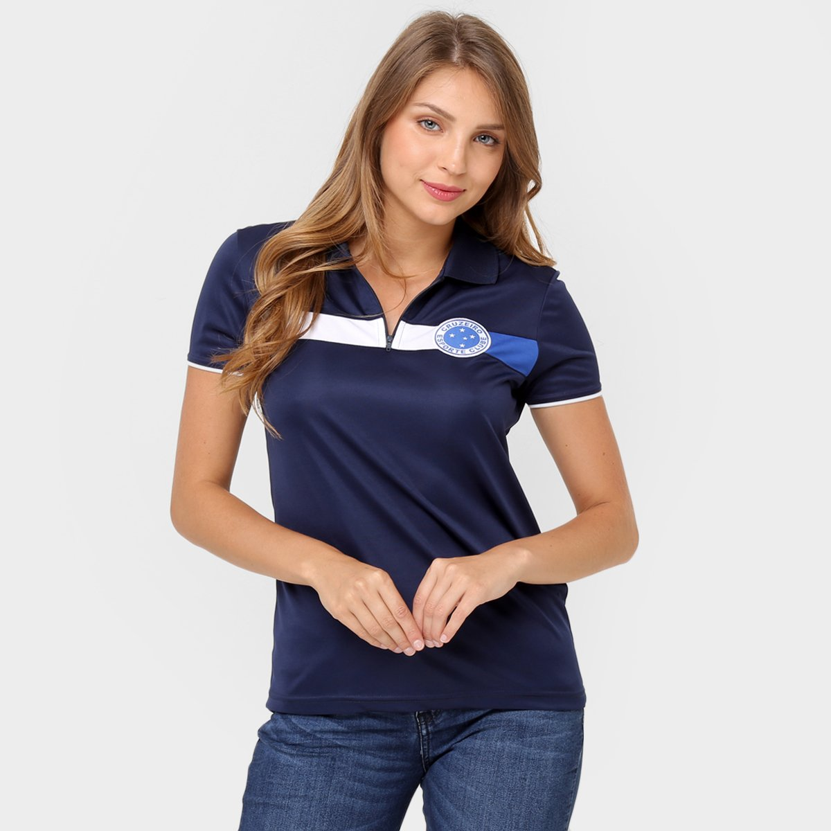 Camisa Polo Feminina Cruzeiro Mask 2 - Compre Agora  a64995250ef0b