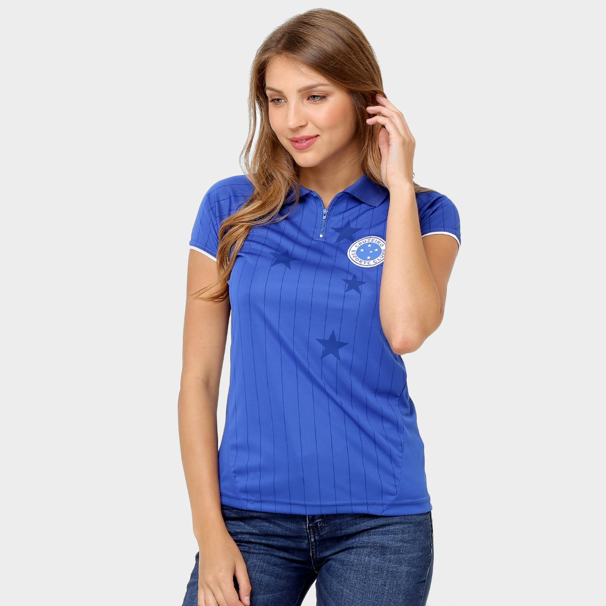 Camisa Polo Feminina Cruzeiro Tailormade - Compre Agora  4a4720b99d068