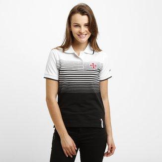 Camisa Polo Feminina Vasco Fio Tinto