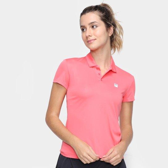 Camisa Polo Fila Detail Feminina - Rosa