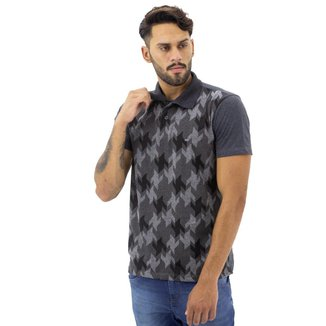 Camisa  Polo Fishers  Estampa Geométrica