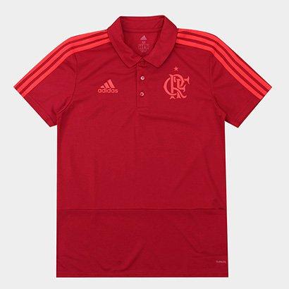 Camisa Polo Flamengo Adidas Viagem Masculina