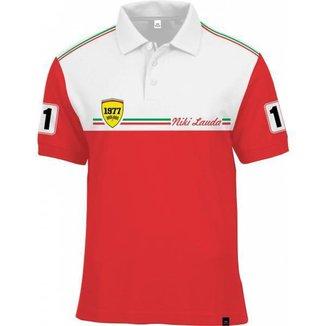 Camisa Polo Fórmula Retrô Lauda 1977