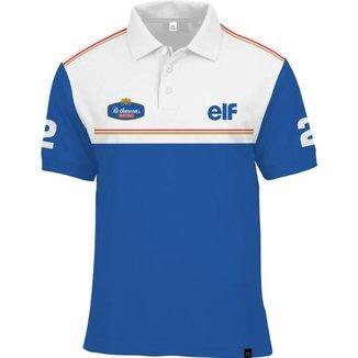 Camisa Polo Fórmula Retrô Williams Rothmans Ano 1994
