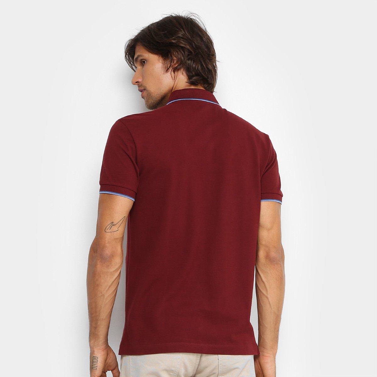 Camisa Polo Forum Piquet Frisos Color Masculina - Bordô - Compre ... 118831ddb8588