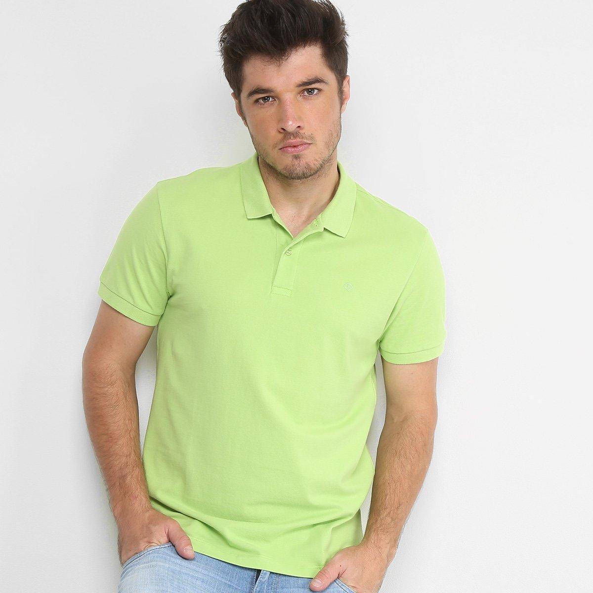 a7a5c6f0f0 Camisa Polo Forum Piquet Masculina - Verde - Compre Agora