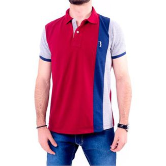 Camisa Polo Golf Club Listrada Masculina