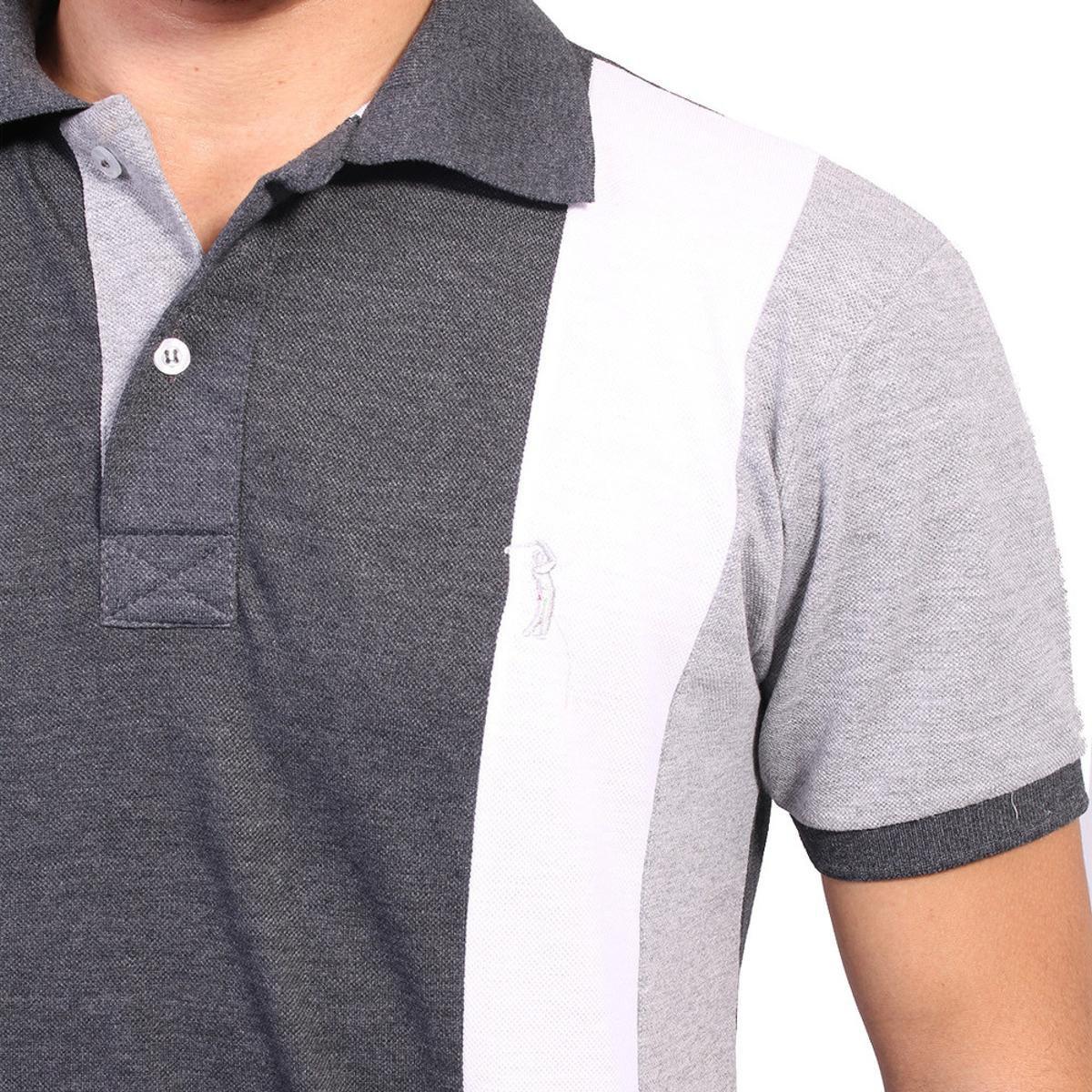 Camisa Polo Golf Club Listrada - Chumbo e Cinza - Compre Agora ... 170fcfa870fd9