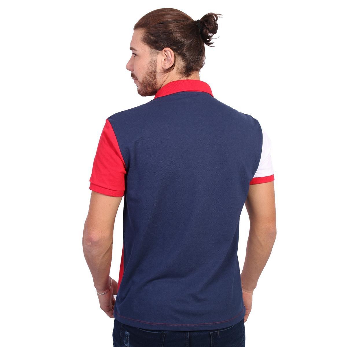 4a14a277f5 Camisa Polo Golf Club Trios - Marinho e Vermelho - Compre Agora ...