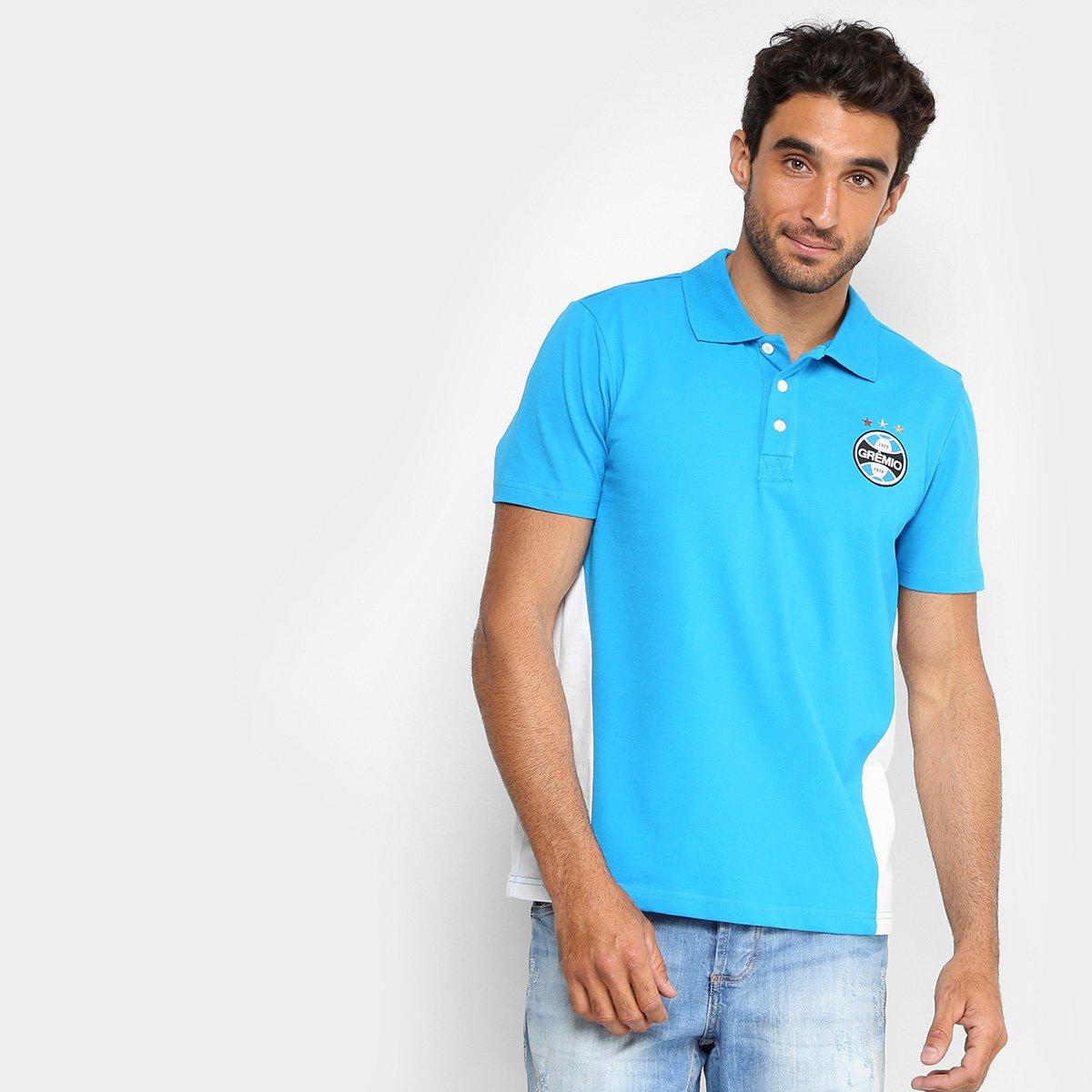 Camisa Polo Grêmio Básica Masculina - Azul
