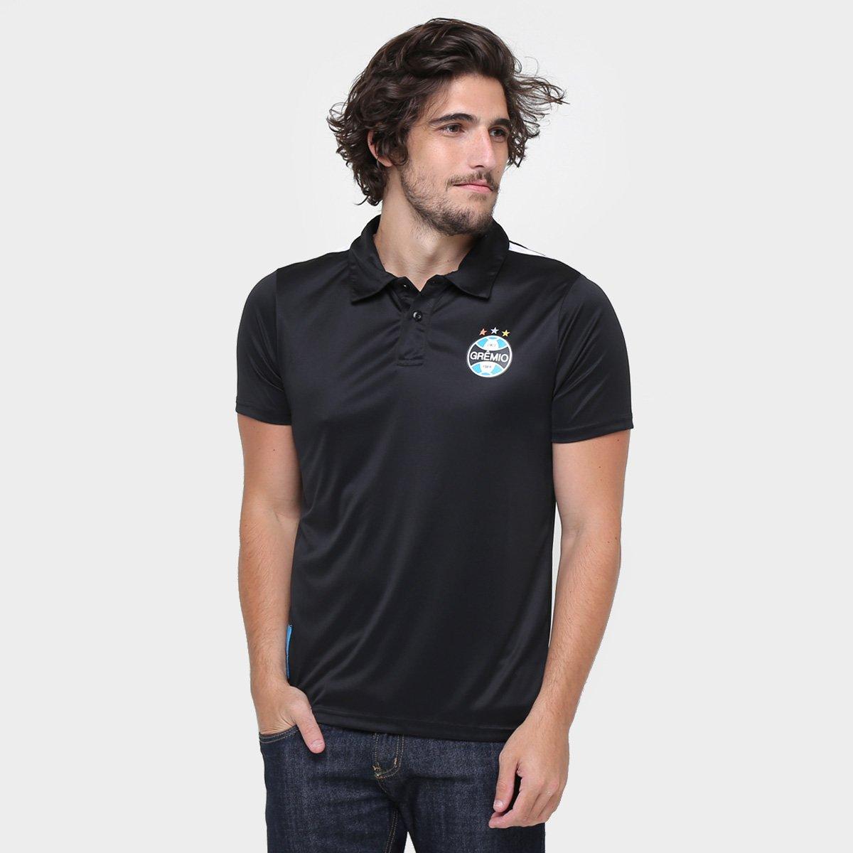 4c79fb06dd Camisa Polo Grêmio Tricolor Gaúcho Masculina - Cinza - Compre Agora ...