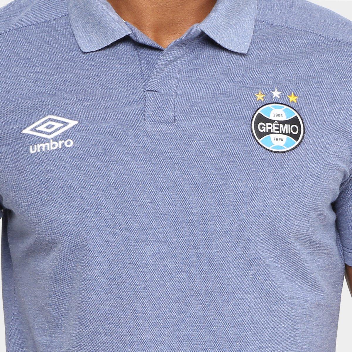71b64b88d2 Camisa Polo Grêmio Umbro Viagem 18 19 Masculina - Marinho - Compre ...