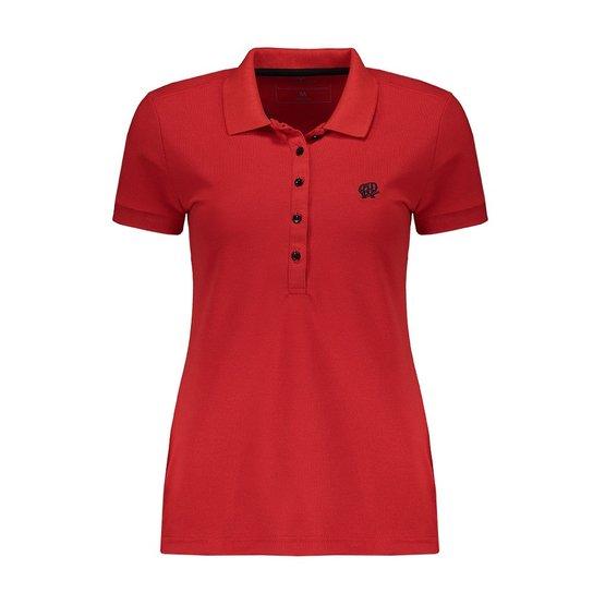 Camisa Polo Hat Trick Atlético-PR - Vermelho