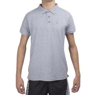 Camisa Polo Head HE7007 Cinza Claro
