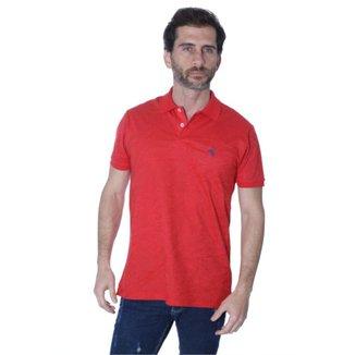 Camisa Polo Hipica Polo Club Full Print Flolhagem Masculina