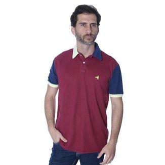 Camisa Polo Hipica Polo Club Recortada Duo England Masculina