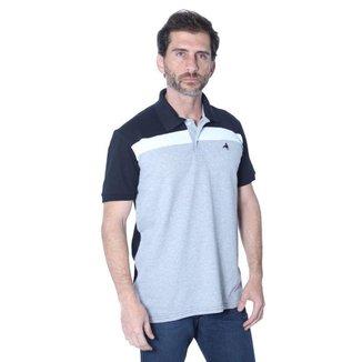 Camisa Polo Hipica Polo Club Full Print Folhas Masculina Masculina
