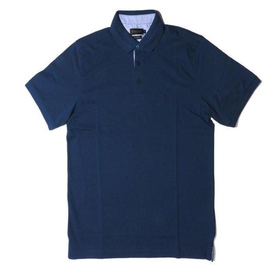 Camisa Polo Individual Comfort Algodão Pima 08751181 - Azul Escuro