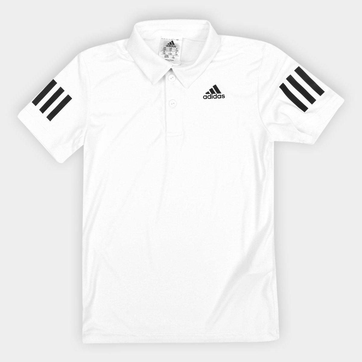 92ab64eef Camisa Polo Infantil Adidas B Club Proteção UV Masculina - Branco   Netshoes