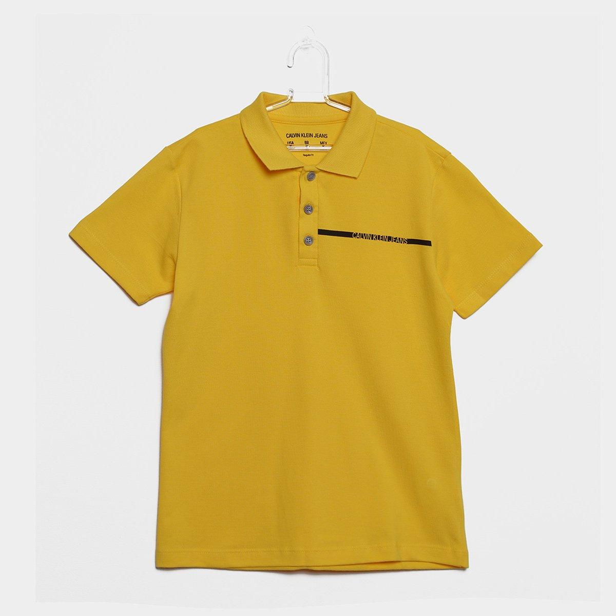 06a98d36df Camisa Polo Infantil Calvin Klein Masculina - Amarelo - Compre Agora ...