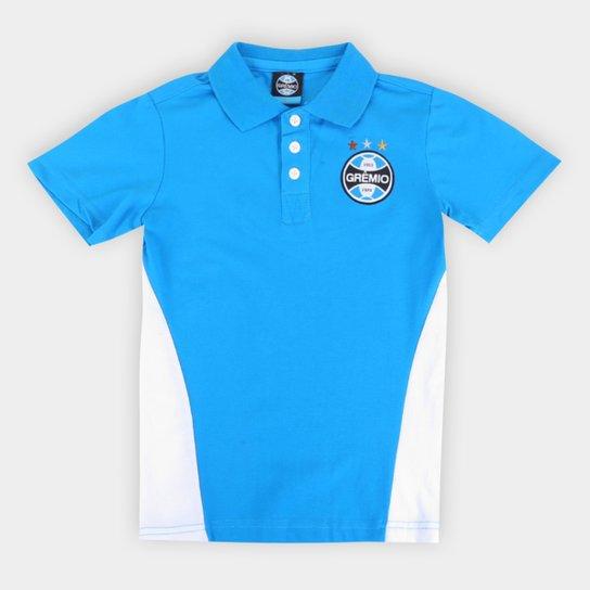 Camisa Polo Infantil Grêmio - Azul