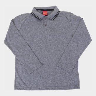 Camisa Polo Infantil Kyly Manga Longa Masculina