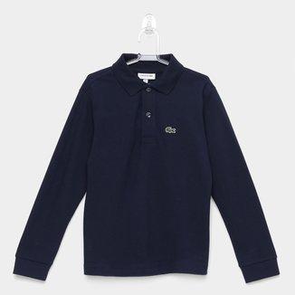 Camisa Polo Infantil Lacoste Manga Longa Masculina