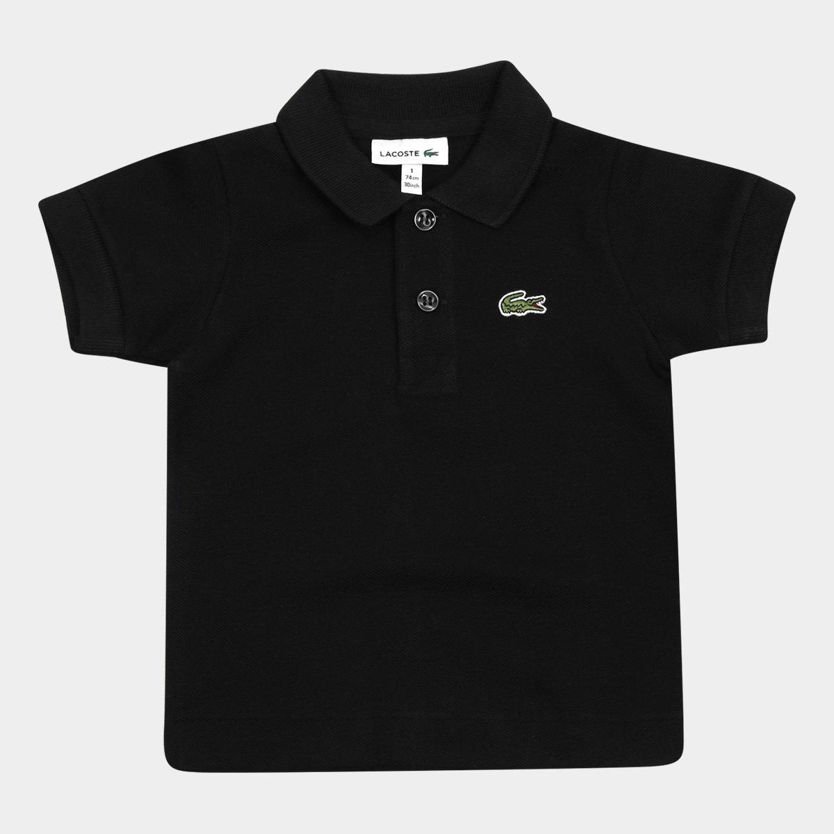 94e37dfb83328 Camisa Polo Infantil Lacoste Masculina - Preto - Compre Agora