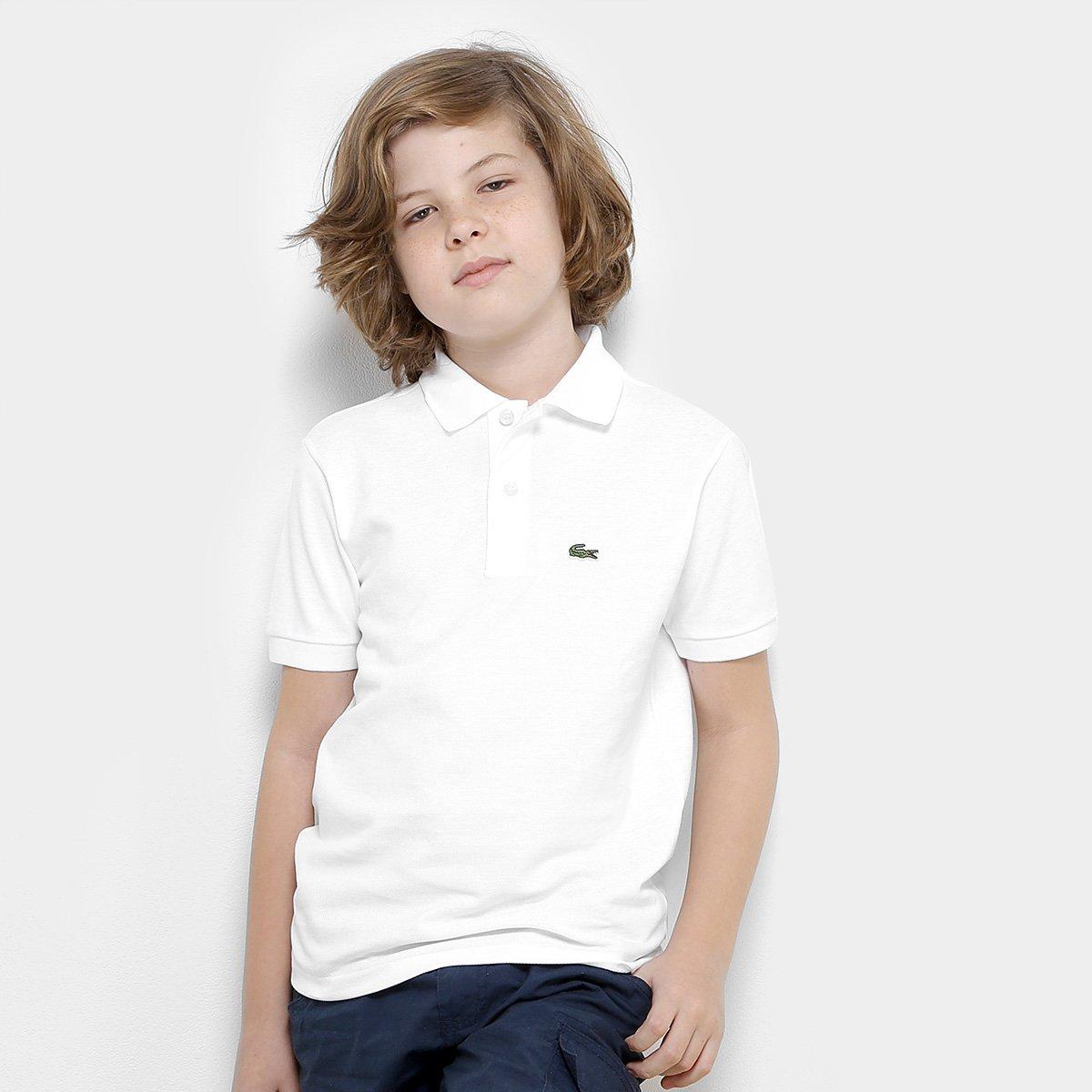 1d2665288cc80 Camisa Polo Infantil Lacoste Masculina - Branco - Compre Agora ...