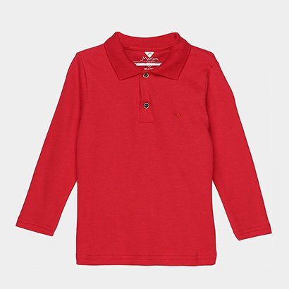 A Camisa Polo Infantil Marlan Manga Longa Masculina promete deixar os pequenos cheios de estilo para o inverno. Confecci...