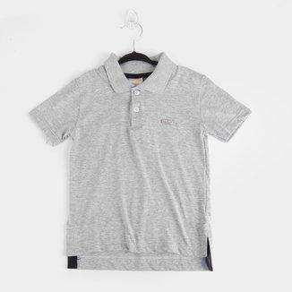 Camisa Polo Infantil Milon Básica Lisa Masculina