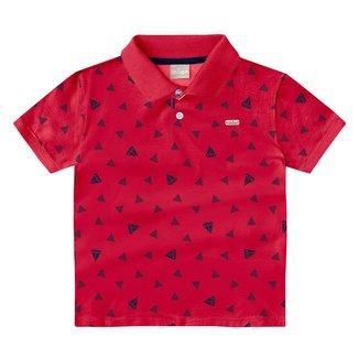Camisa Polo Infantil Milon Folhagens Masculina