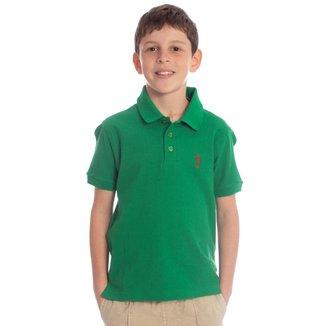 Camisa Polo Infantil Piquet Light Aleatory Masculina