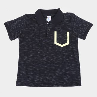 Camisa Polo Infantil Pulla Bulla Jet Masculina