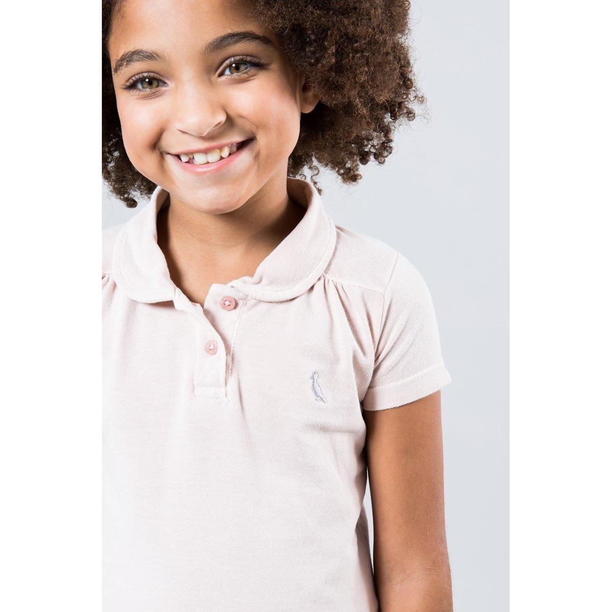 556679aa6b Camisa Polo Infantil Reserva Mini Feminina - Off White - Compre ...