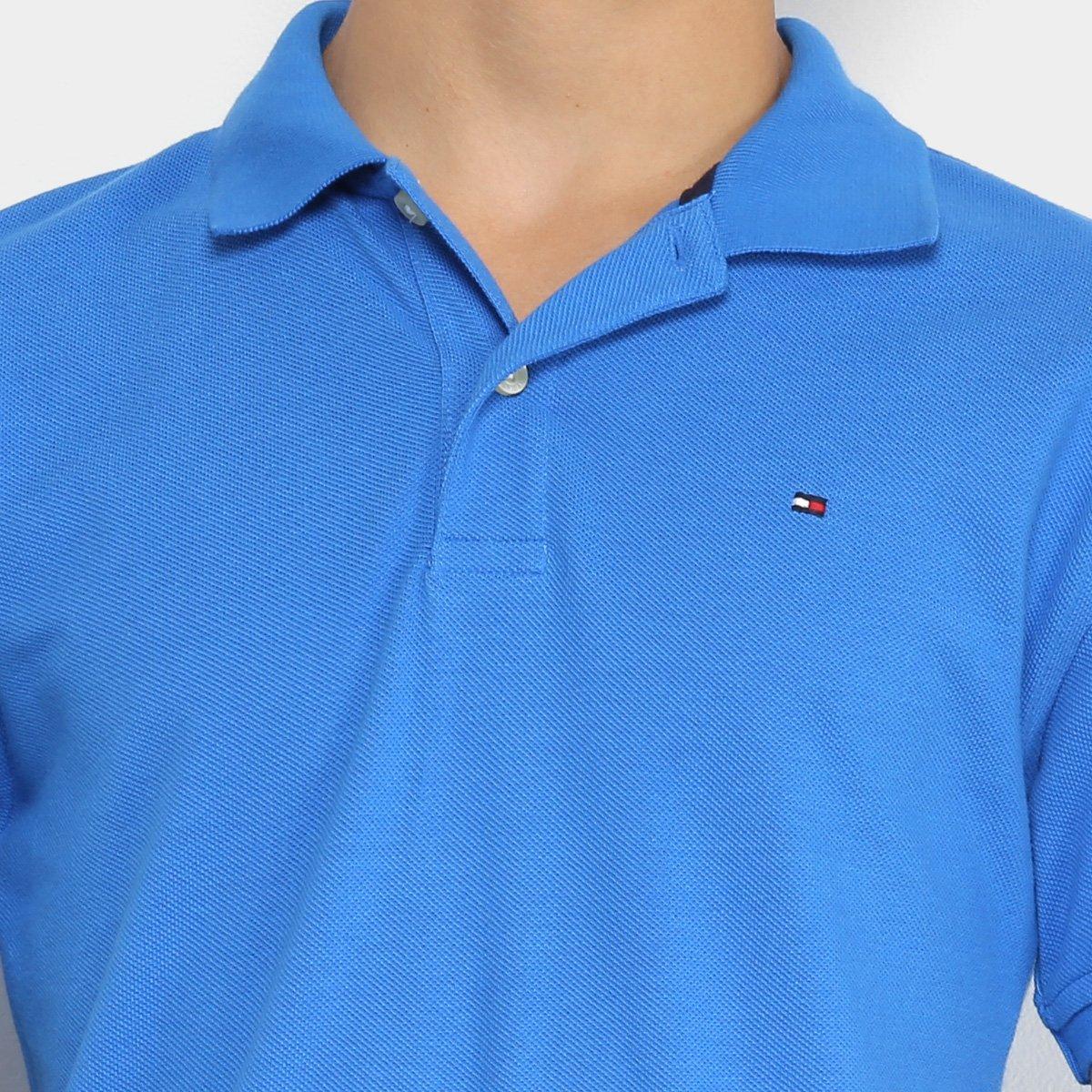 7e46f62e140abc  Camisa Polo Infantil Tommy Hilfiger Knit New Masculina -  Azul Royal . a01514893917e