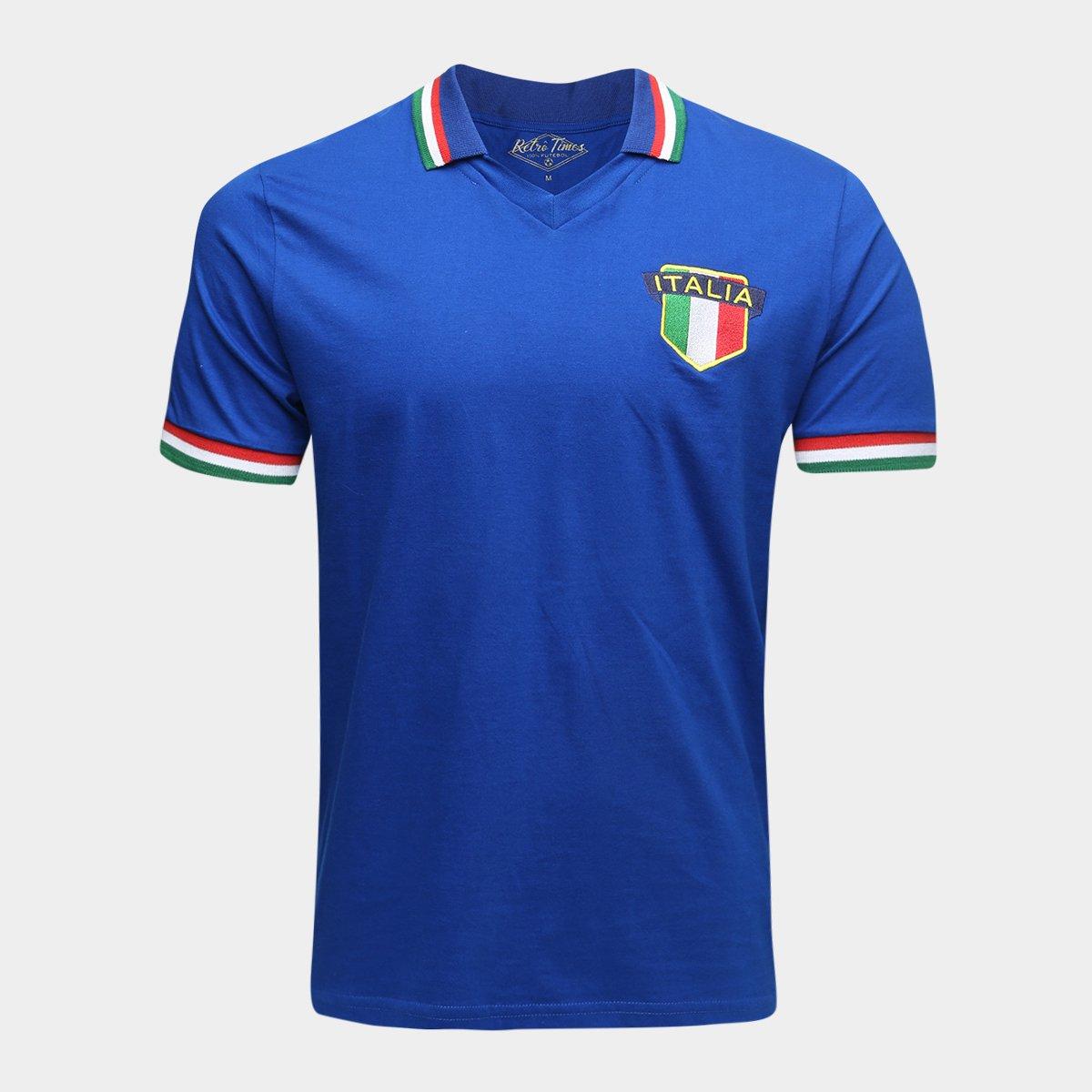 3c161677ad Camisa Polo Itália 1982 Retrô Times Masculina - Compre Agora