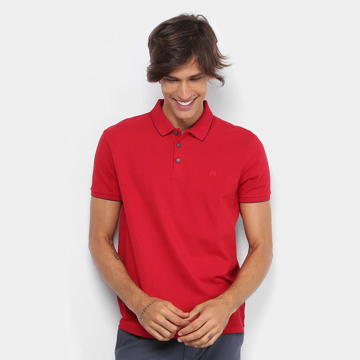 7327bc4b30 Camisa Polo Jab Piquet Friso Masculina - Vermelho - Compre Agora ...