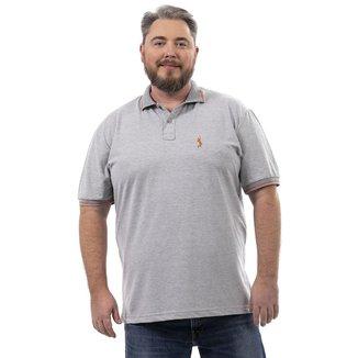 Camisa Polo John Pull Masculina Botão Plus Size Dia a Dia
