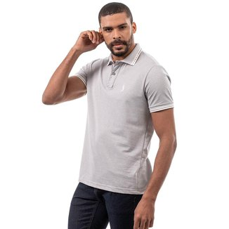 Camisa Polo John Pull Masculina Manga Curta Algodão Casual