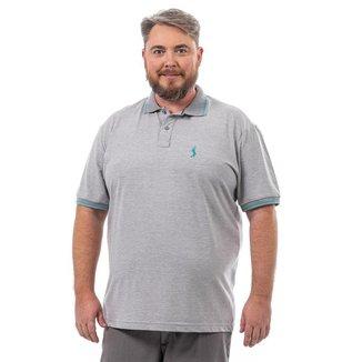 Camisa Polo John Pull Masculina Plus Size Botão Conforto